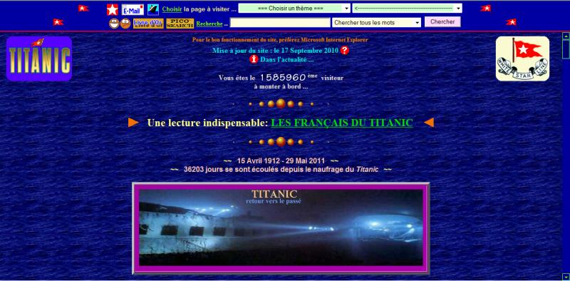 Le Site du Titanic dans Coup de coeur sdt
